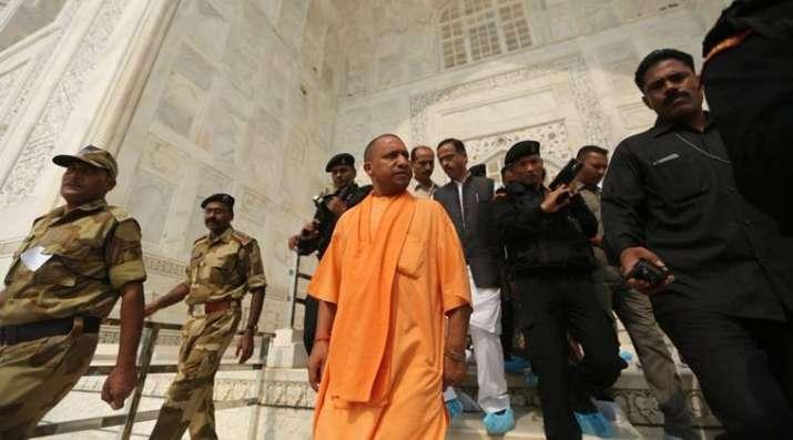 India Tv - UP CM Yogi Adityanath in Taj Mahal
