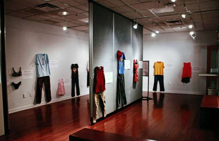 India Tv - Rape victims' clothes put up on display in a Belgian exhibition