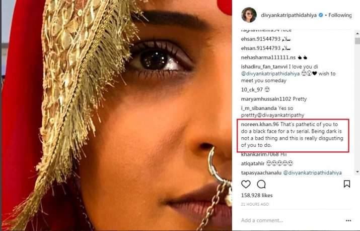India Tv - A social media user's comment on Divyanka Tripathi's picture