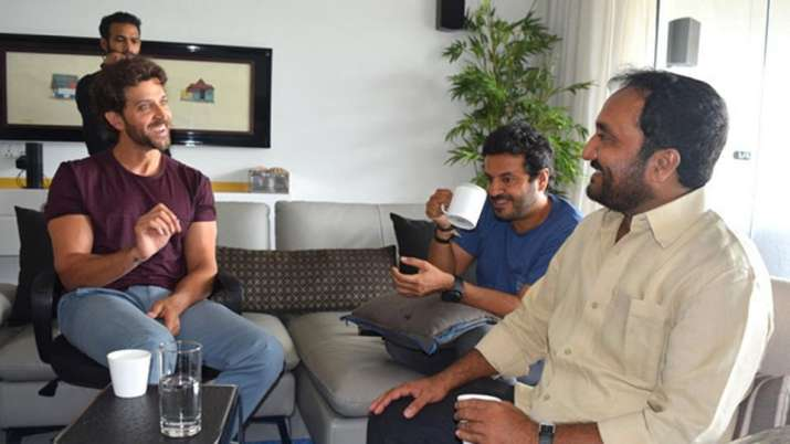 Hrithik Roshan with Anand Kumar