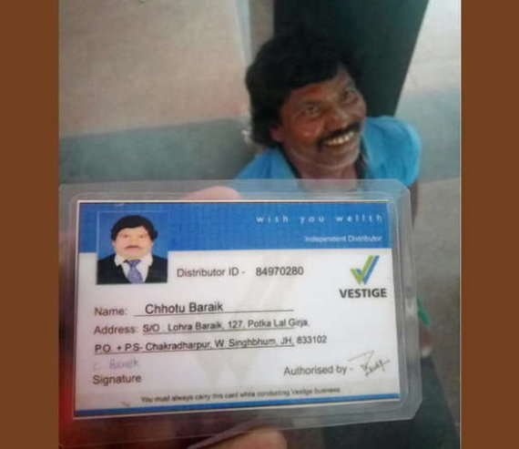 India Tv - Here's his Vestige ID card