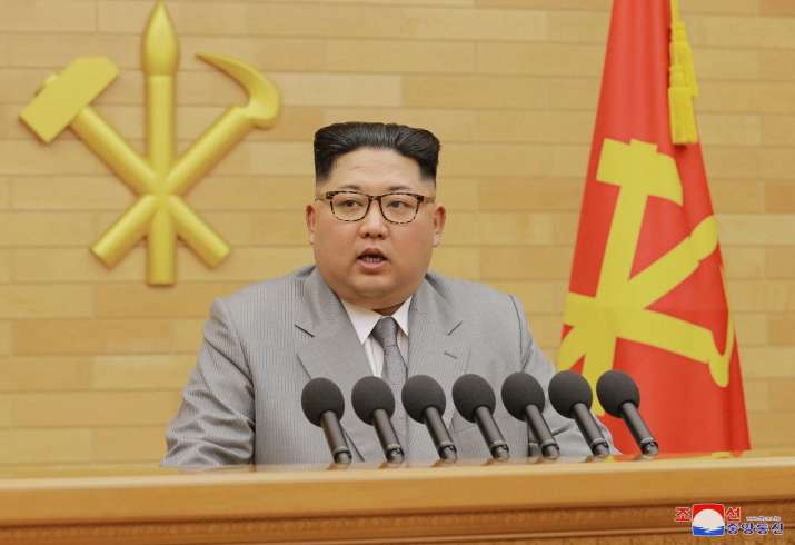 Kim Jong-un during New Year's address