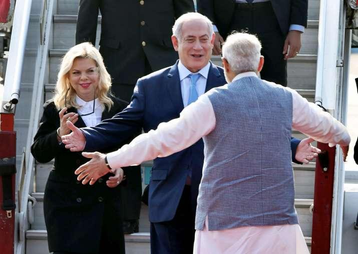 Israeli PM arrives to PM Modi's warm hug on six-day