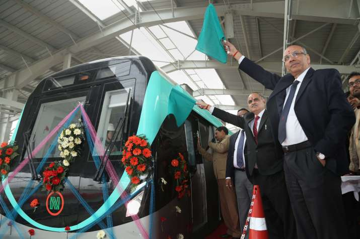 DMRC begins trial run on Noida-Greater Noida Metro rail
