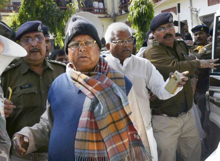 Lalu Prasad was brought to the Central Bureau of