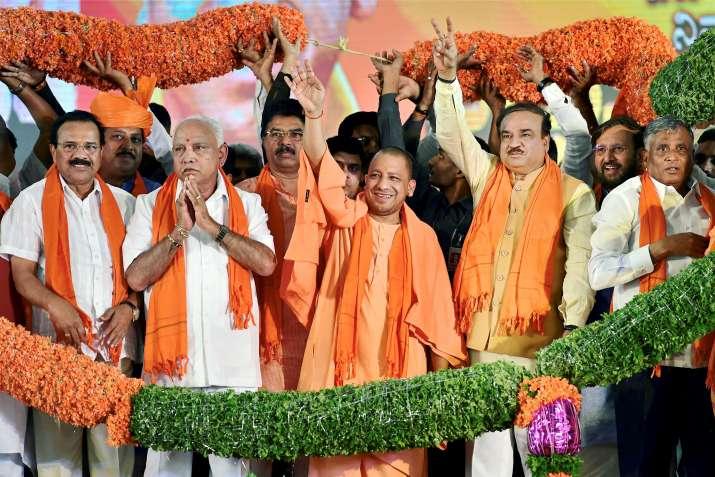 Bengaluru : UP Chief Minister Yogi Adityanath, BJP State