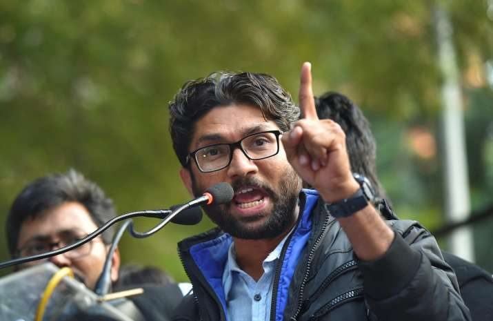 Jignesh Mevani at his Yuva Hunkar Rally in New delhi on