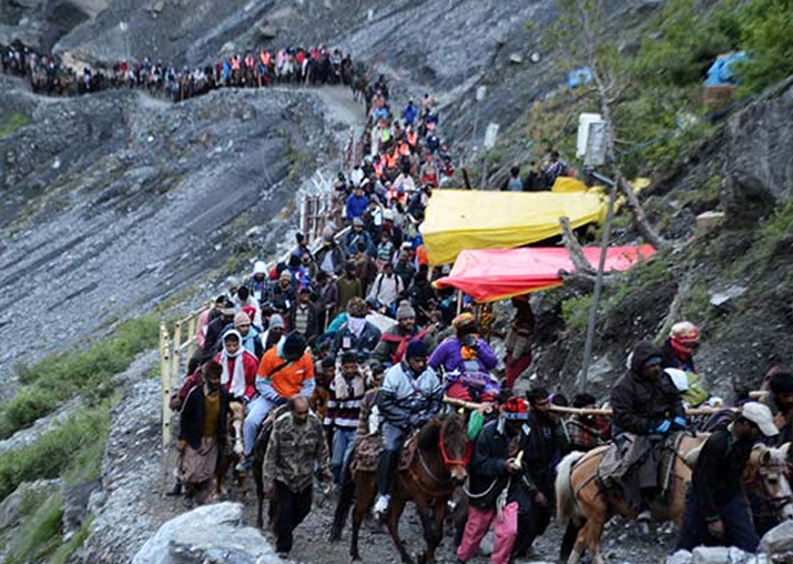 File pic - 60-day long Amarnath yatra to begin on June 28: