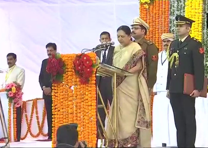 Anandiben Patel takes oath as the governor of Madhya
