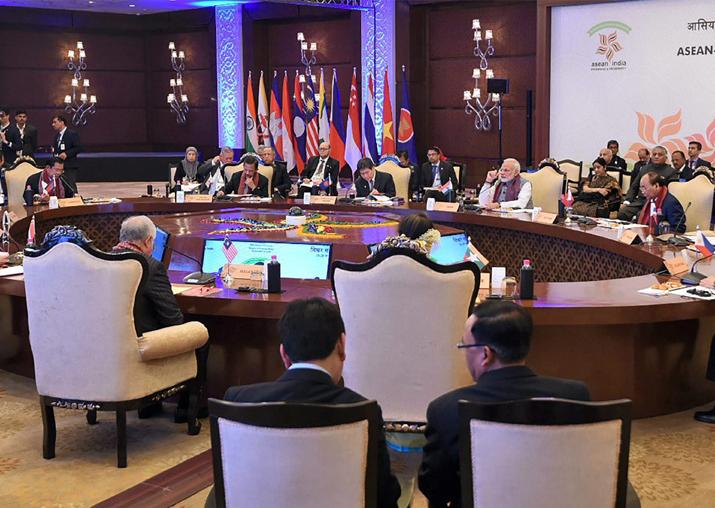 File pic - PM Narendra Modi at the ASEAN India