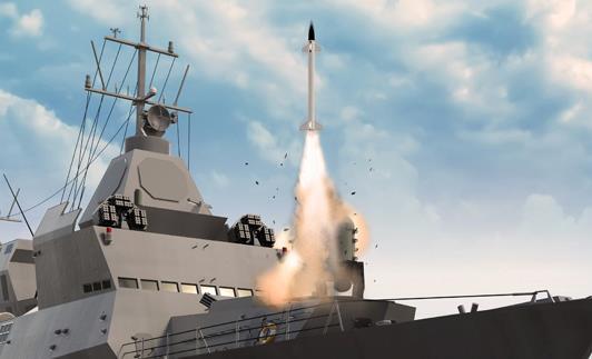File photo of Barak missile test by Israel