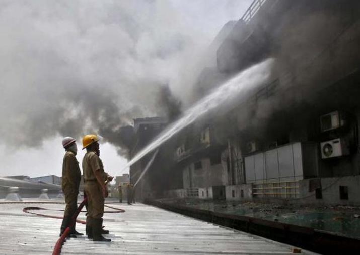 Nine killed in fire at outer Delhi's Bawana plastic