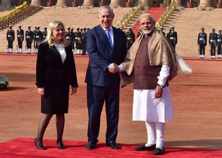 PM Narendra Modi receives Israeli PM Benjamin Netanyahu and