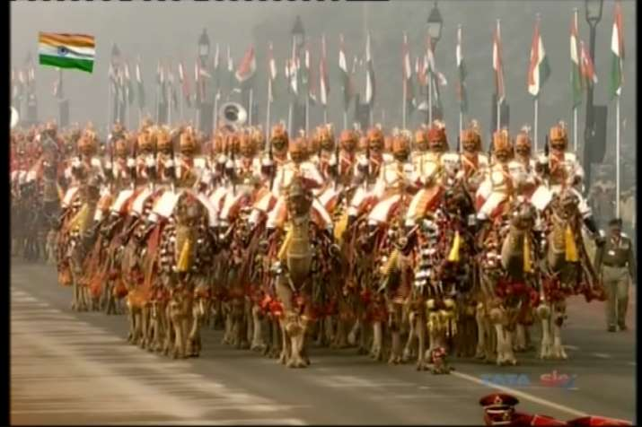 India Tv - BSF's camel contingent