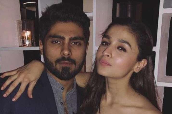 Alia Bhatt with Ali Dadarkar