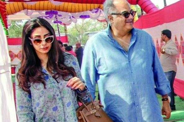 Sridevi with her husband Boney Kapoor (PC: produsridevians)