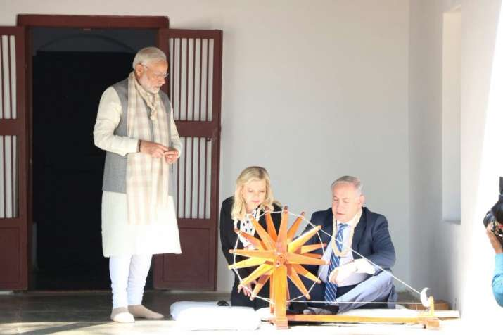 Israeli PM, PM Modi hold grand roadshow in Ahmedabad, spin