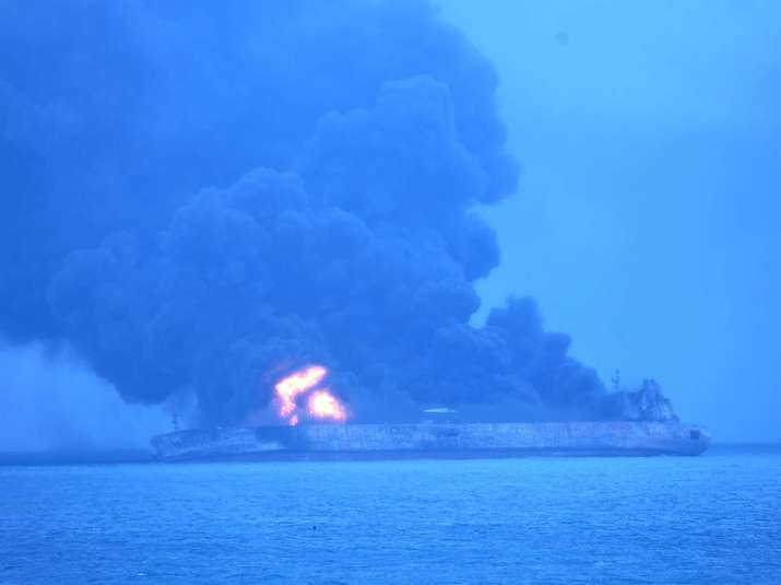 Iranian oil tanker blaze continues for the third day in