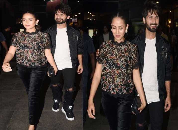 India Tv - Shahid Kapoor and Mira Rajput at the screening of Padmaavat