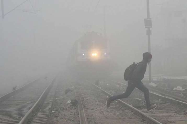 Many trains were delayed, cancelled due to dense fog.