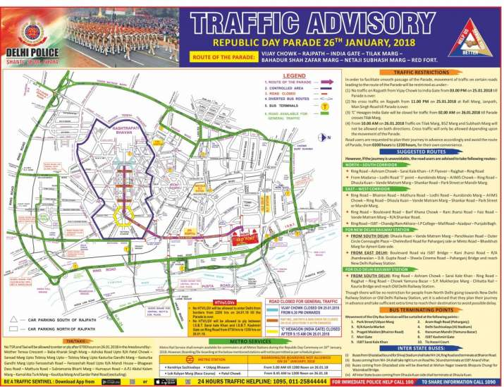 India Tv - Traffic advisory issued by Delhi Police.