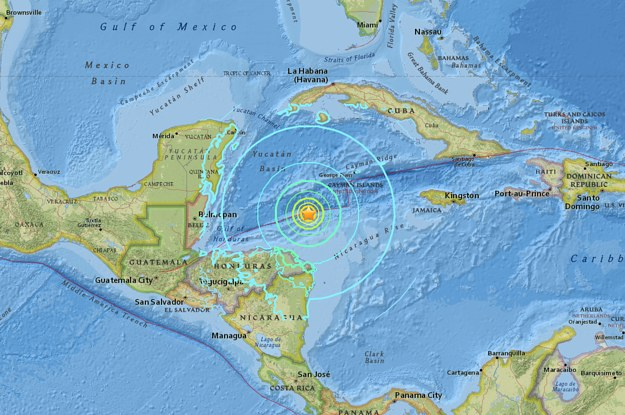 The US Geological Survey measured the quake at a
