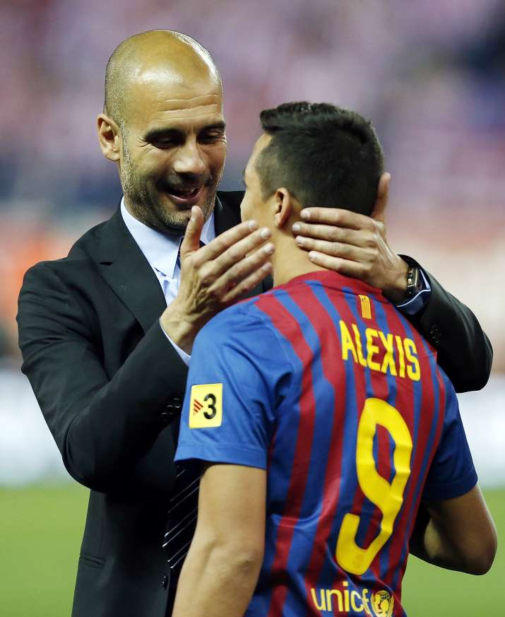 India Tv - A file image of Pep Guardiola and Alexis Sanchez