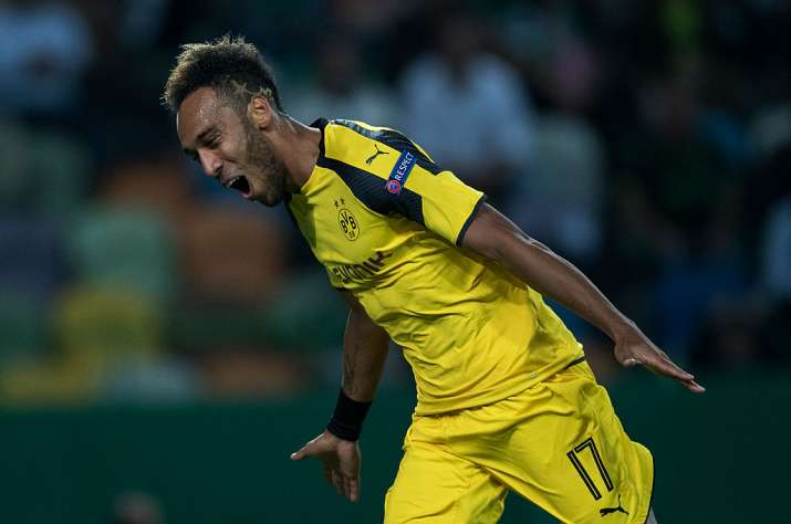 India Tv - A file image of Pierre Emerick Aubameyang