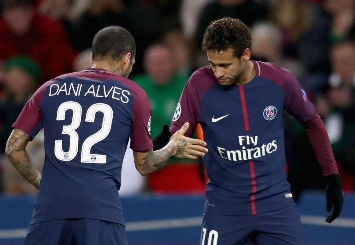 India Tv - A file image of Dani Alves and Neymar
