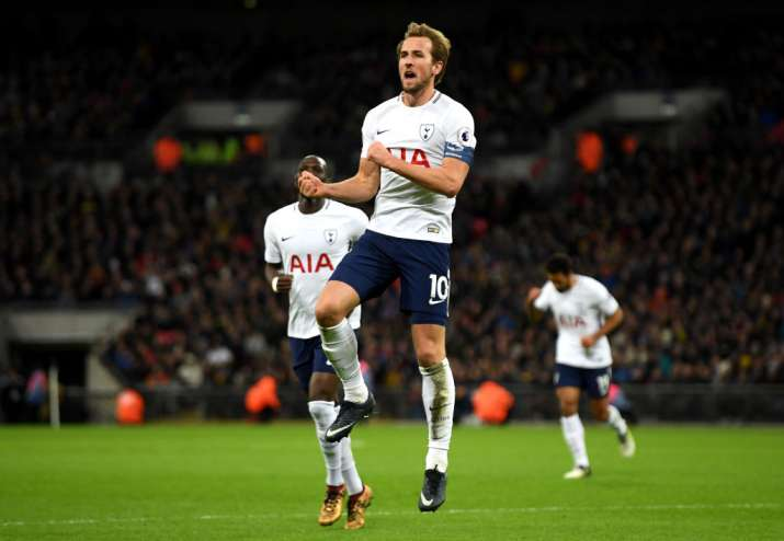India Tv - Harry Kane celebrates after scoring.