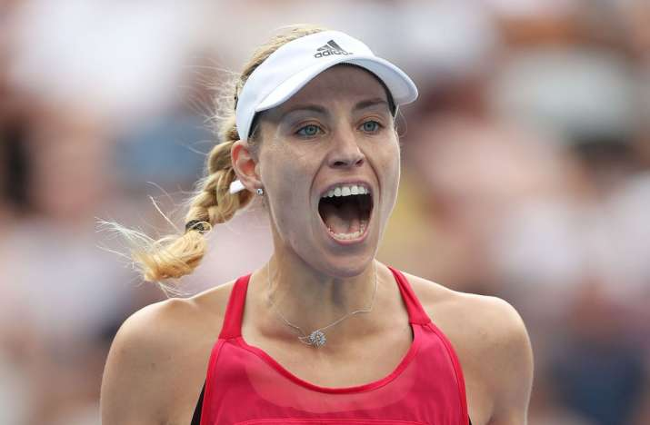 India Tv - Angelique Kerber reacts during the match.