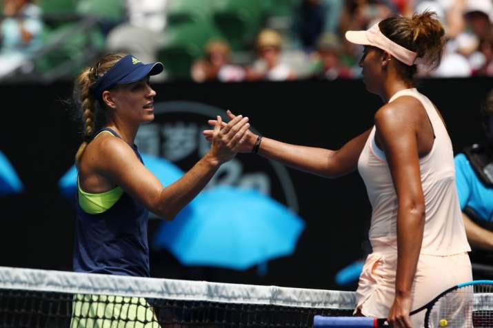 India Tv - Madison Keys congratulates Kerber on her win.