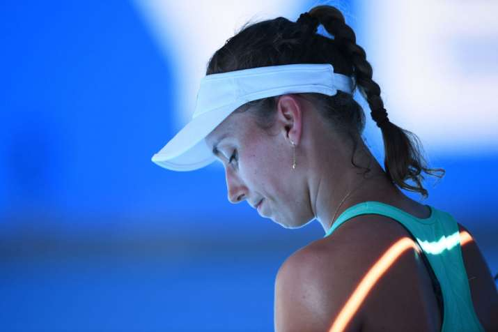 India Tv - Elise Mertens looks dejected after losing to Wozniacki