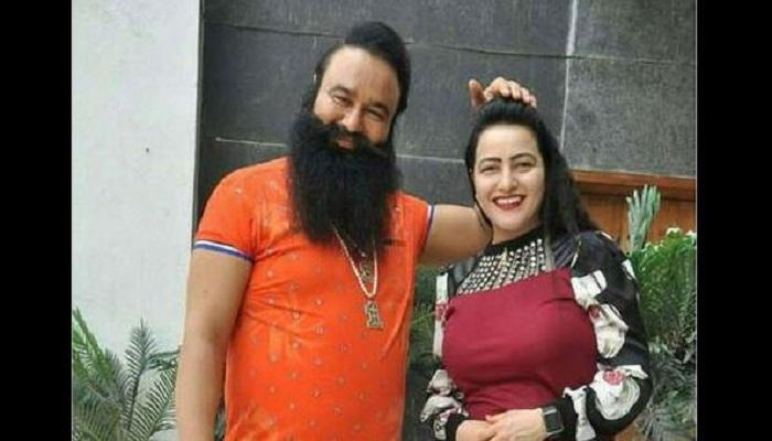 File photo of Gurmeet Ram Rahim Singh and Honeypreet Insan.