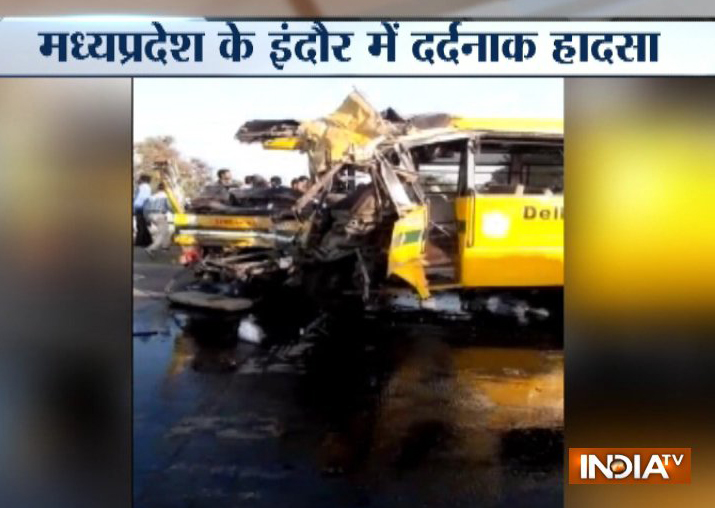 Indore: 5 school children and bus driver killed after a