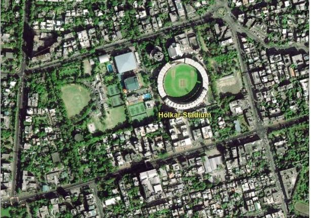 The first image sent by Cartosat-2 series satellite. Photo