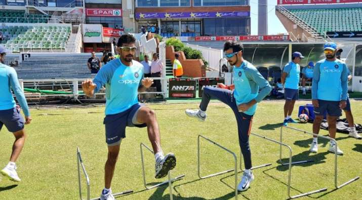 India Tv - Jasprit Bumrah and Yuzvendra Chahal during a practise session.