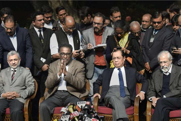 Supreme Court judge Jasti Chelameswar along with other