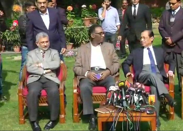 Supreme Court Judges address media. ANI photo