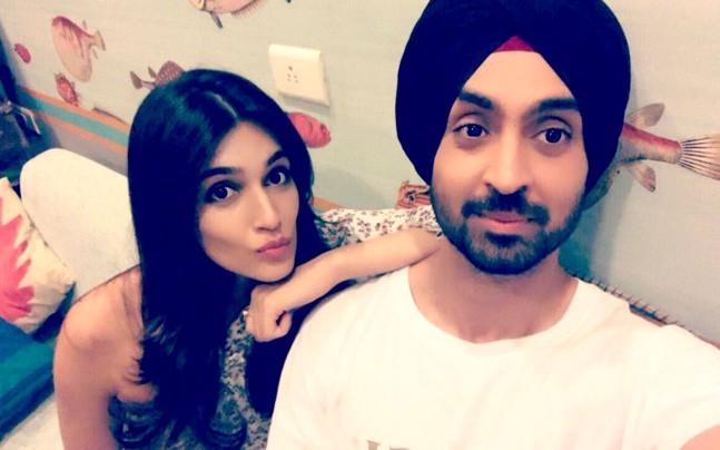 Diljit Dosanjh and Kriti Sanon (PC: Instagram)
