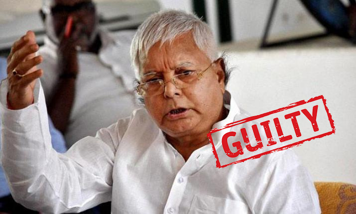 RJD supremo Lalu Prasad Yadav sentenced to five years in