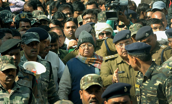 Lalu Prasad is lodged since December 23 after his