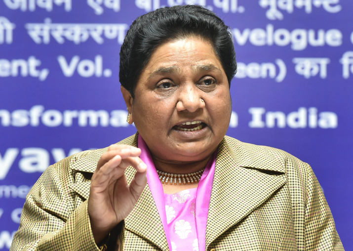 BSP supremo Mayawati addresses media in Lucknow
