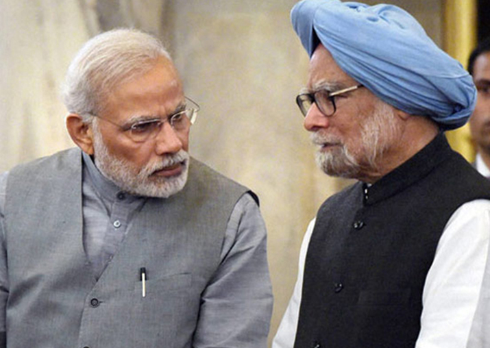 File pic - PM Narendra Modi and former PM Manmohan Singh
