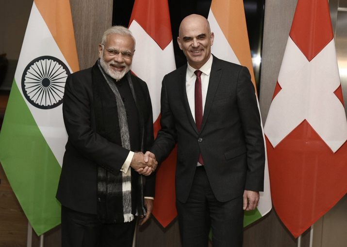 PM Narendra Modi holds bilateral meeting with Swiss