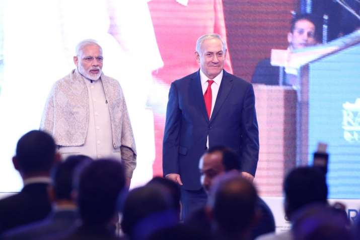 Israel PM and PM Modi at Raisina Dialogue