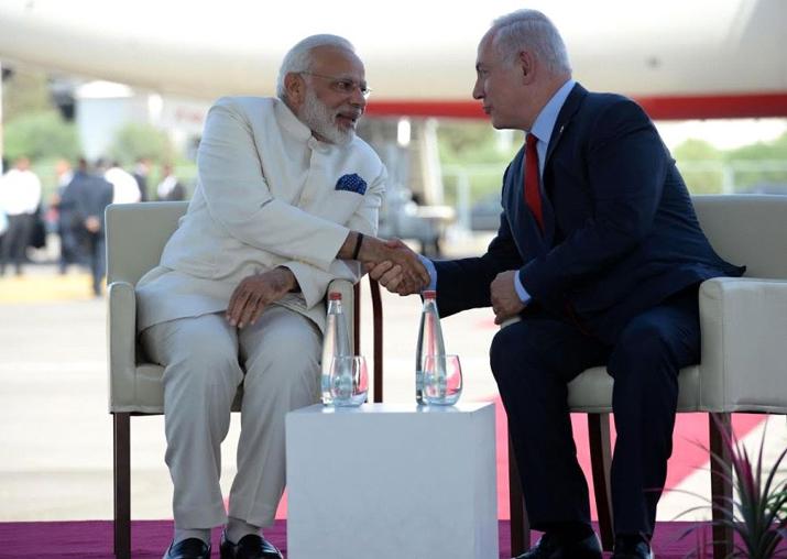 File pic - Narendra Modi and Benjamin Netanyahu
