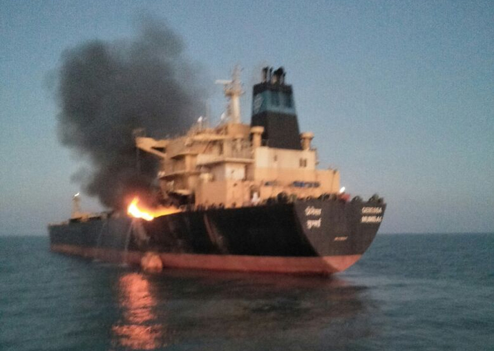 Fire breaks out in MT Genessa oil tanker off Gujarat coast,