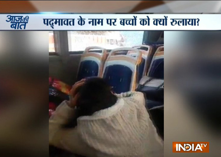 Padmaavat row: Frenzied mob attacks school bus carrying