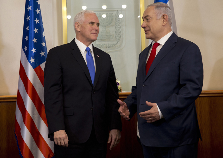 US Vice President Mike Pence meets with Israel's Prime